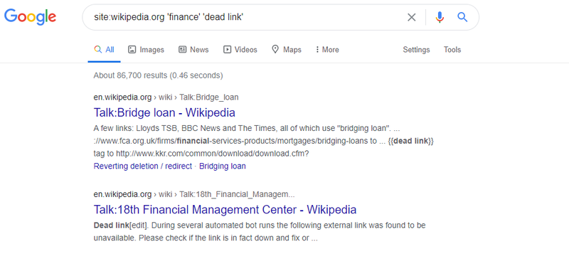 how to find broken links on wikipedia
