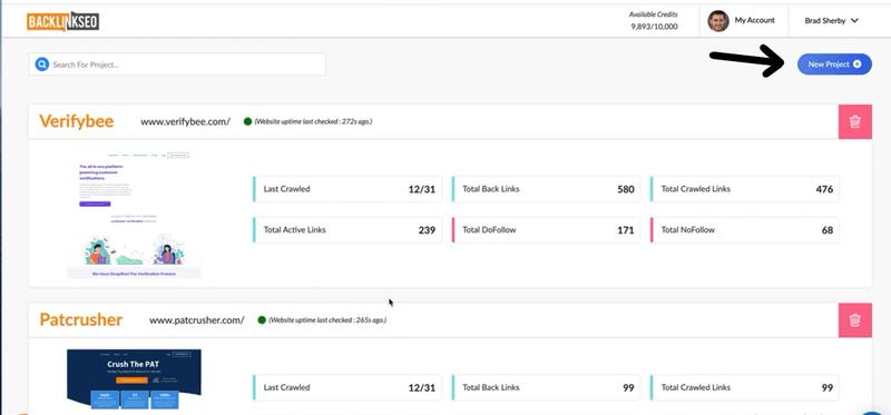 monitoring backlinks using Backlinkseo