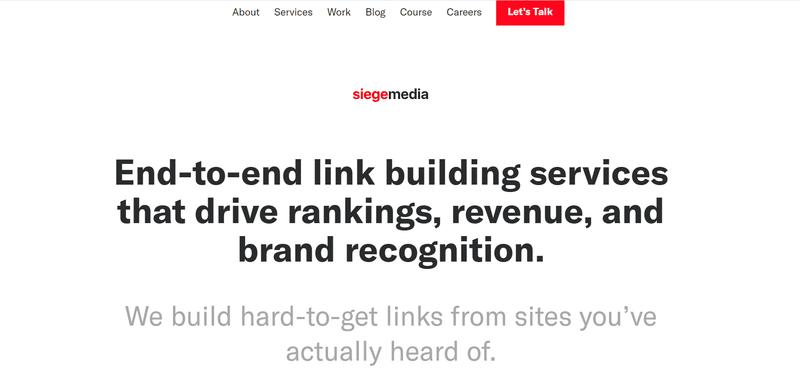 Siege Media- link building service