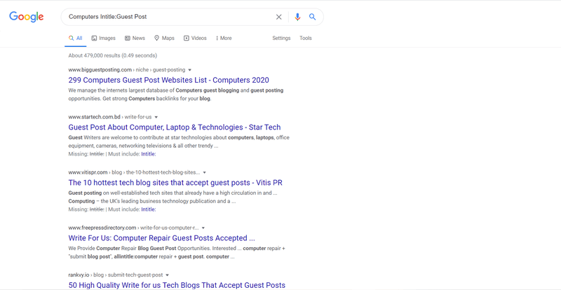 """Google search results for """"Computers Intitle:Guest Post"""""""