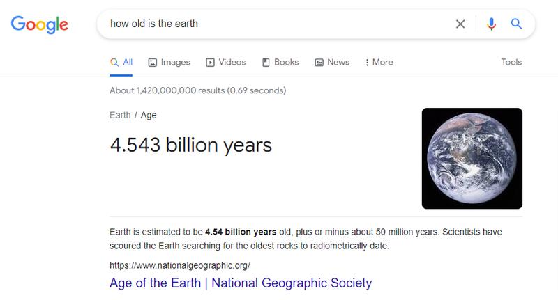 google knowledge card