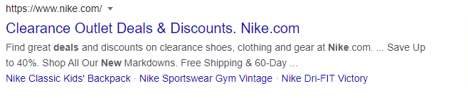 google search snippet offers