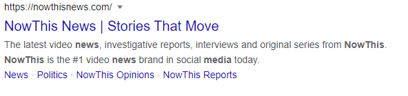 nowthis google search snippet